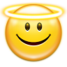96x96px size png icon of emotes face angel