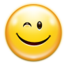 96x96px size png icon of emotes face wink