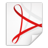 96x96px size png icon of mimetypes application pdf