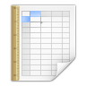 96x96px size png icon of mimetypes application vnd sun xml calc template