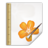 96x96px size png icon of mimetypes application vnd sun xml draw template