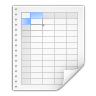 96x96px size png icon of mimetypes application x applix spreadsheet
