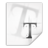 96x96px size png icon of mimetypes application x font ttf