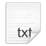 96x96px size png icon of mimetypes text plain