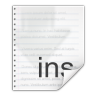 96x96px size png icon of mimetypes text x install