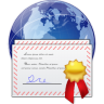 96x96px size png icon of places certificate server