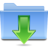 96x96px size png icon of places folder downloads