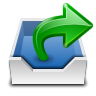 96x96px size png icon of places mail folder outbox