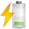96x96px size png icon of status battery charging 040