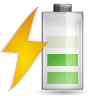 96x96px size png icon of status battery charging 060
