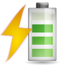 96x96px size png icon of status battery charging 080