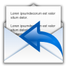 96x96px size png icon of status mail replied