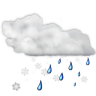 96x96px size png icon of status weather snow rain