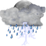 96x96px size png icon of status weather storm night