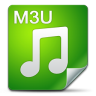 96x96px size png icon of Filetype m3u