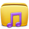 96x96px size png icon of Folder Music