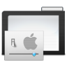 96x96px size png icon of Folder Dark Preferences