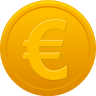 96x96px size png icon of coin euro