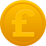 96x96px size png icon of coin pound