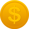 96x96px size png icon of coin us dollar