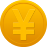 96x96px size png icon of coin yuan