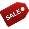 96x96px size png icon of sale
