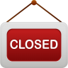 96x96px size png icon of shop closed