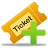 96x96px size png icon of create ticket