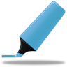 96x96px size png icon of Highlightmarker blue