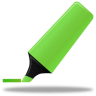 96x96px size png icon of Highlightmarker green