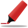 96x96px size png icon of Highlightmarker red