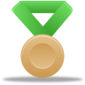 96x96px size png icon of Metal bronze green