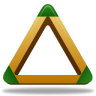 96x96px size png icon of Sport triangle
