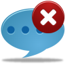96x96px size png icon of Comment delete