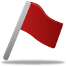 96x96px size png icon of Flag red