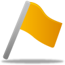 96x96px size png icon of Flag yellow