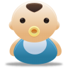96x96px size png icon of baby boy