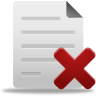 96x96px size png icon of delete file