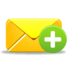 96x96px size png icon of email add