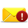 96x96px size png icon of email alert