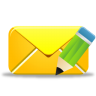 96x96px size png icon of email edit