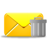 96x96px size png icon of email trash