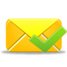 96x96px size png icon of email validated