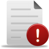 96x96px size png icon of file warning