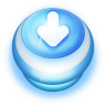 96x96px size png icon of Button Blue Arrow Down