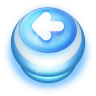 96x96px size png icon of Button Blue Arrow Left