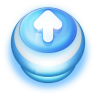 96x96px size png icon of Button Blue Arrow Up