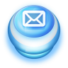 96x96px size png icon of Button Blue Mail