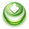 96x96px size png icon of Button Green Arrow Down