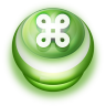 96x96px size png icon of Button Green Commandkey